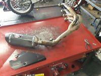 2012 12-16 HONDA CBR 1000RR YOSHIMURA FULL EXHAUST SYSTEM CAN HEADER PIPES NICE