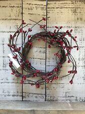 Burgundy Pip Berry Twig Ring/Wreath Rustic Primitive Farmhouse