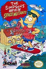 RGC Huge Poster - Simpsons Bart VS Space Mutants Nintendo NES BOX ART - NES110