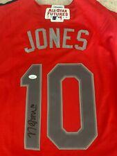NOLAN JONES Indians Signed Auto Autographed Futures Game Jersey JSA