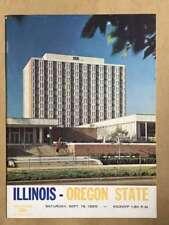 ORGAN STATE UNIV @ UNIV OF ILLINOIS COLLEGE FOOTBALL PROGRAMS  1965 EX