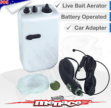 2 Speed Live Fish Bait Aerator Oxygen Air Pump + Car Charger