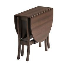 Drop Leaf Table HEATPROOF Folding Dining Kitchen Gateleg Seats 6 Oval Walnut