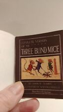 Miniature Readable Book Complete Version of Ye Three Blind Mice LOOK!