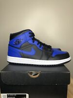 Nike Air Jordan 1 Retro Mid 'Hyper Royal' SIZE 8.5 554724-077 New In Hand
