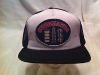 Vintage Swabmaster Baseball Cap Hat Patch Black & White Mesh Trucker Snapback