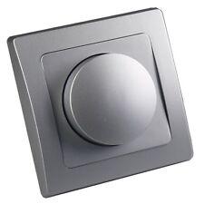 LED Dimmer Unterputz silber stufenlos für dimmbare LED-Lampen geeignet