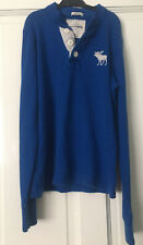 Boys ABERCROMBIE Kids Large Long Sleeve Top - Blue - Muscle Fit