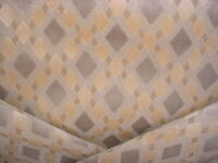 7Y Scalamandre VC 00012104 Vivace Beige Ikat Velvet Upholstery Fabric