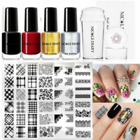5 Pcs / Set Nail Art Stamping Plates Nail Polish Kit Stencils Templates