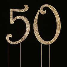 Numbrer 50 for 50th Birthday or Anniversary Cake Topper Party Decoration Supp...