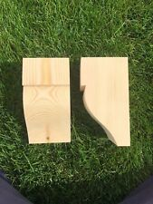 Wooden Corbels (Shelf Brackets) solid pine style E (1 pair)