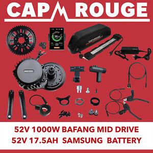 Bafang 52V 1000W BBSHD 120MM Conversion Kit & 52V 17.5ah Samsung Battery FatBike