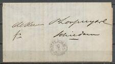 DRUKWERK LIVERPOOL-SCHIEDAM, 1½ CT. ROTTERDAM EN HALFROND FRANCO 30/6 1854 Zv569
