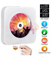 Portable CD Player with Bluetooth, Qoosea Wall Mountable CD Players Music Player