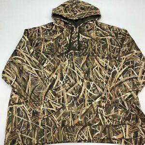 Mossy Oak Shadow Grass Blades Drawstring Hoodie Men's X Long Sleeve Polyester