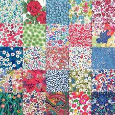 "25 Liberty Print Tana Lawn 2.5"" Patchwork Charm Squares - *HAPPY MIX*"
