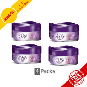 4 Packs Eva Skin Cream Moisturizer with Glycerin for Dry Skin, 170gm / 6oz each