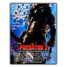 Predator Ii 2 Película De Placa Letrero De Metal Película Póster Decoración Cueva de hombre sala de cine
