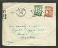 BRITISH 1951 SOUTHERN RHODESIA COVER TO ARGENTINA, sALISBUTY CANCEL