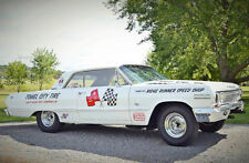 """1963 Chevy Impala Drag Car """"TOWEL CITY TIRE"""" in 1/25th scale model car decal"""
