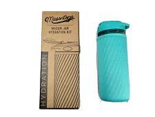Masontops Mason Jar Hydration Water Bottle - Turquoise