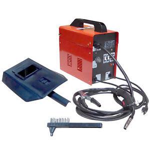 120 Amp Auto Wire Feed Non Gas Flux Mig Welder Welding Machine Mild Steel