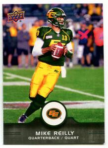 2016 CFL Mike Reilly Card #1 Edmonton Eskimos Central Washington