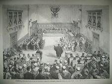 ALGERIE CONSTANTINE COUR JUSTICE JUBLILé MOLIERE HAUTE SAONE GRAY GRAVURES 1873