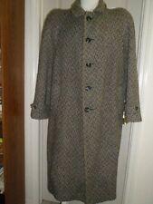 USA vtg 80's (44) Vittorio Multa Italy Heavy Tweed Wool Overcoat w/shoulder pads