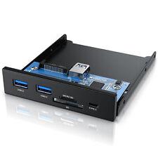 USB 3.2 Gen.1 Front Panel aus Metall bis zu 5 Gbit/s 5 Schnittstellen Cardreader