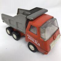 "Vintage Orange & Silver 1970s TONKA Tipper Dump Truck Small Size 5"" - Steel GC"