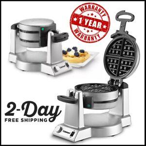 Cuisinart Waring Pro Double Belgian Waffle Maker Machine Baker Breakfast Iron