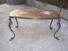 Ancienne Tablette marqueté piètement en bronze chérubin/Putti Table Desserte
