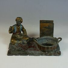 9th c Cold Painted Austrian Sculpture, Smoke Stand