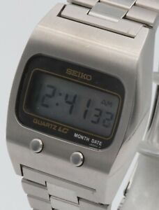 Vintage Seiko 0439-5007 digital steel wristwatch.1977.Box,papers.Extremely clean