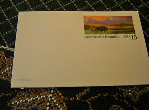 "Four blank ""America the Beautiful 15 Cent Postcards USPS 1988"