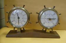 Vintage AIRGUIDE desk top weather station .Barometer, &  8 day clock