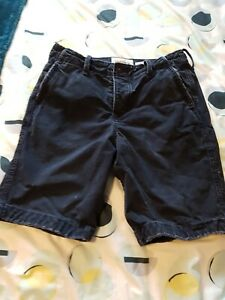 """Navy Blue Mens Abercrombie and Fitch Cargo Shorts Size 30"""" Waist"""