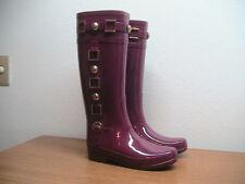 NEW Womens 7 US HUNTER Very Berry Regent Hurlingham Gloss Rubber Rain Boots RARE
