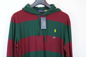 Polo Ralph Lauren mens long sleeve hooded rugby shirt szie M 175/96A