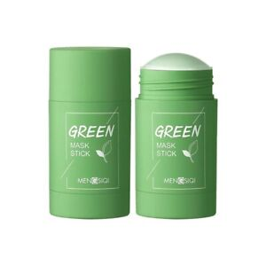 Green Tea Cleansing Face Mask Stick Blackhead Remove Deep Moisturizing Clay Mud