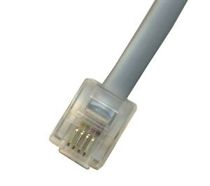 1ft Short Telephone Cable RJ11 Male-Male 12 INCH Phone Line Cord Gray 6p4c Voice