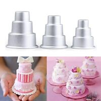 Mini 3-Tier Cupcake Pudding Pastry Chocolate Cake Mold Baking Pan Mould 3 Sizes