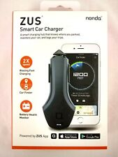 Zus Smart Car Hub by Nonda-Usb charger, Battery monitor, Car locator,Mileage log