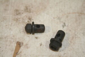 Vintage Bicycle 1950s Black Brake Cable Locking Pinch Nuts x 2 New Old Stock