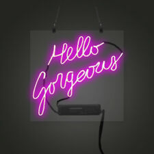 17''x14''Hello Gorgeous Neon Sign Light Party Celebrate Visual Artwork Art Gift