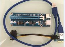 60cm USB 3.0 PCI-E 1x to16x Extender Riser Card Adapter LATEST VERSION 006C