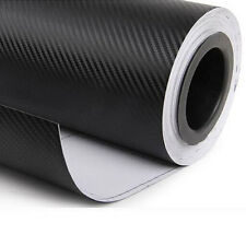 "12""x50"" 3D Black Carbon Fiber Vinyl Car Wrap Sheet Roll Film Sticker Decal1"