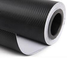 "12""x50"" 3D Black Carbon Fiber Vinyl Car Wrap Sheet Roll Film Sticker New1"